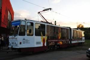 Музыкальный трамвай вновь на улицах города (фоторепортаж)